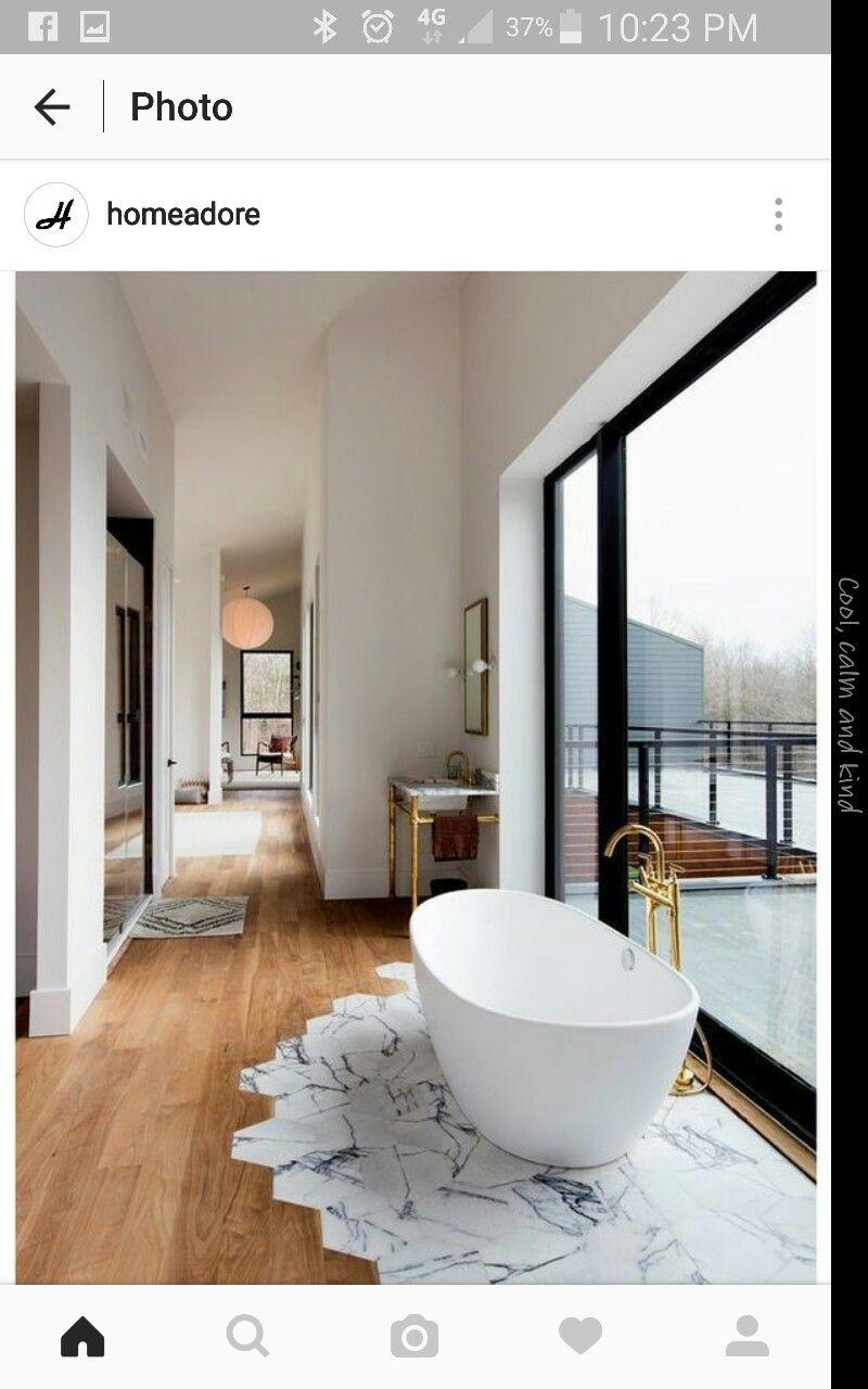 Interesting tiling under bath   bathrooms   Pinterest   Bath
