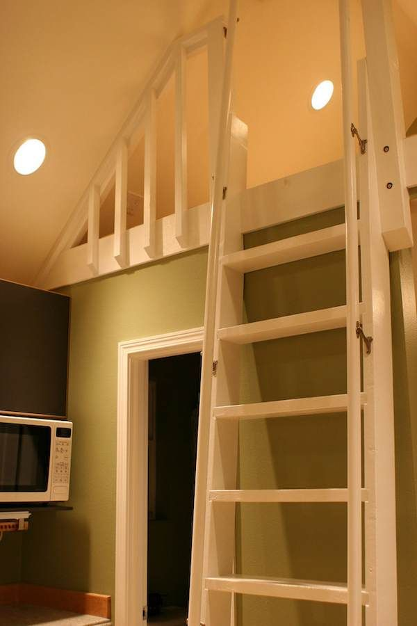 Mulfinger Tiny House Pictures And Video Tour Tiny House Loft Loft Stairs Loft Ladder