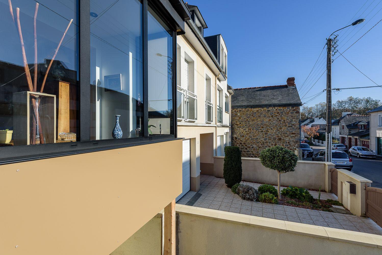 Rocher Typhaine architecte maison individuelle, bow-window, Rennes(35 | Maison individuelle ...