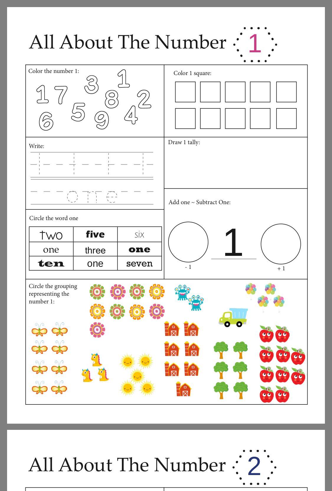 Free Activities For Kindergarten Worksheets
