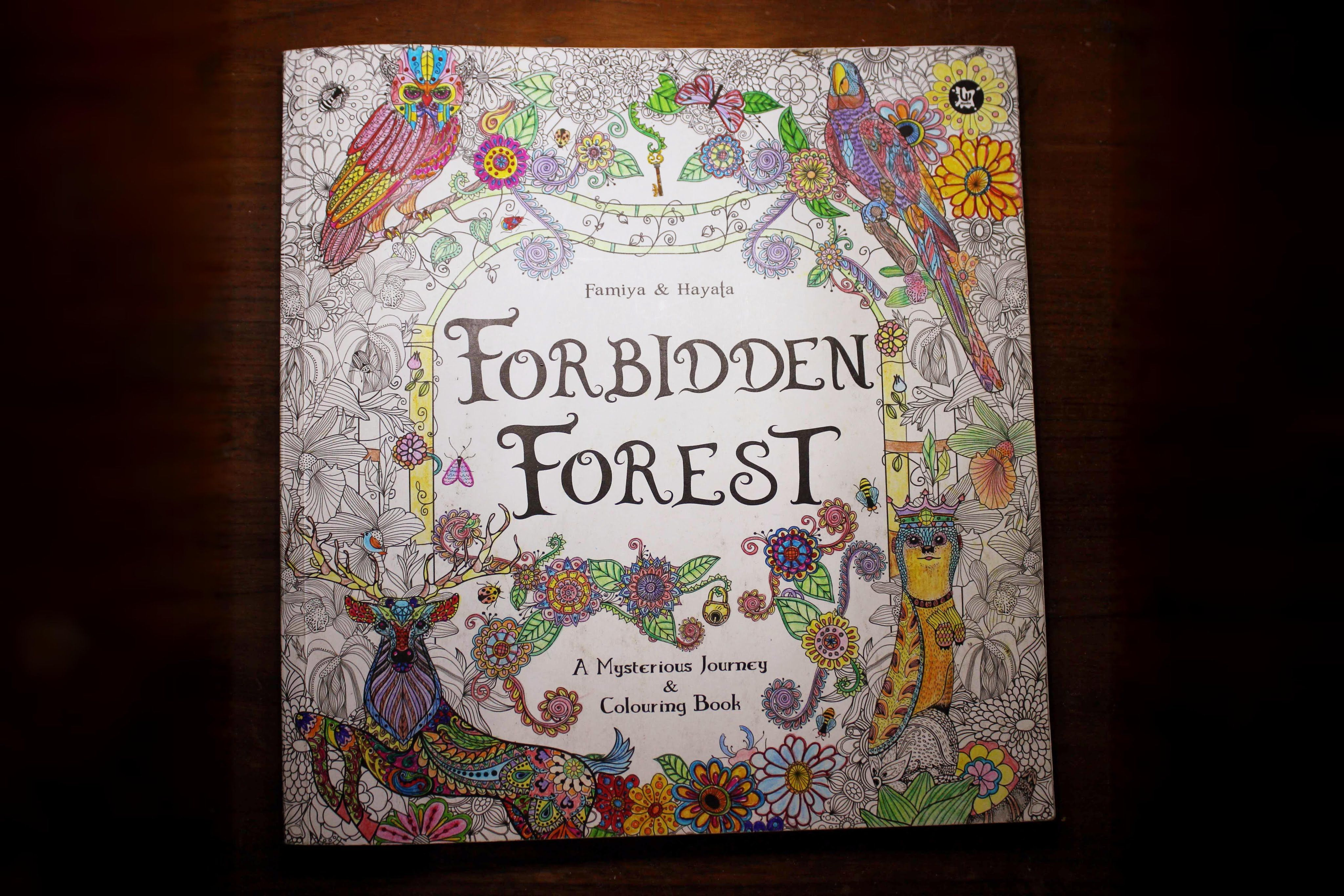 The enchanted forest coloring book review - Forbidden Forest A Mysterious Journey Colouring Book Author S Famiya Hayata