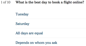 New York Times Travel Quiz Can You Book The Cheapest Flight