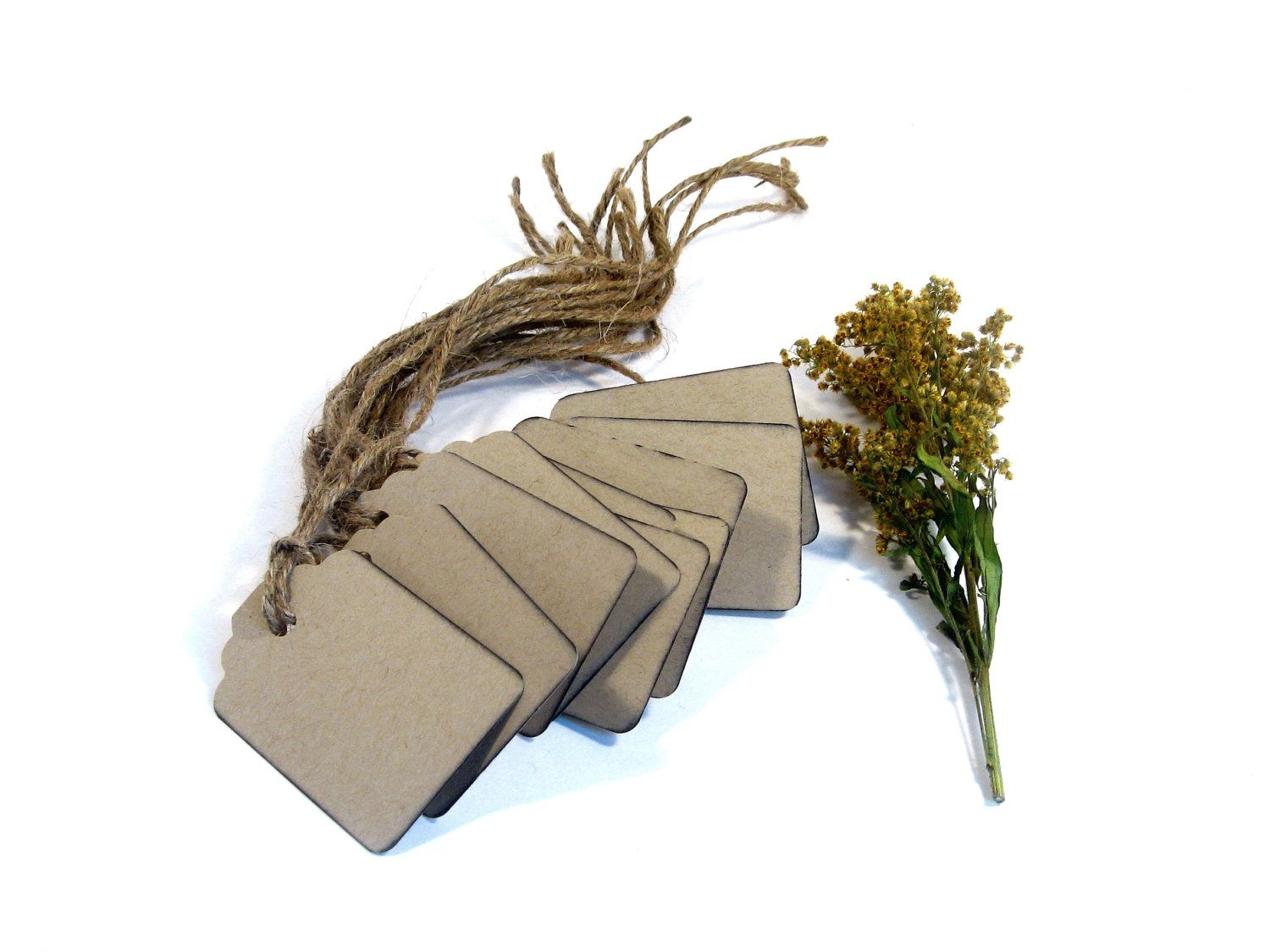 Wedding gift tags.  Set of 10 rustic DIY tags for gifts, labels or escort cards..
