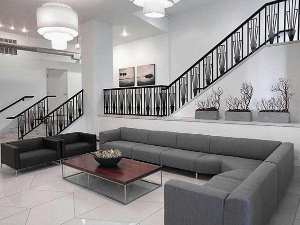 Contemporary Chicago Residential Lobby Design Ideas Interior