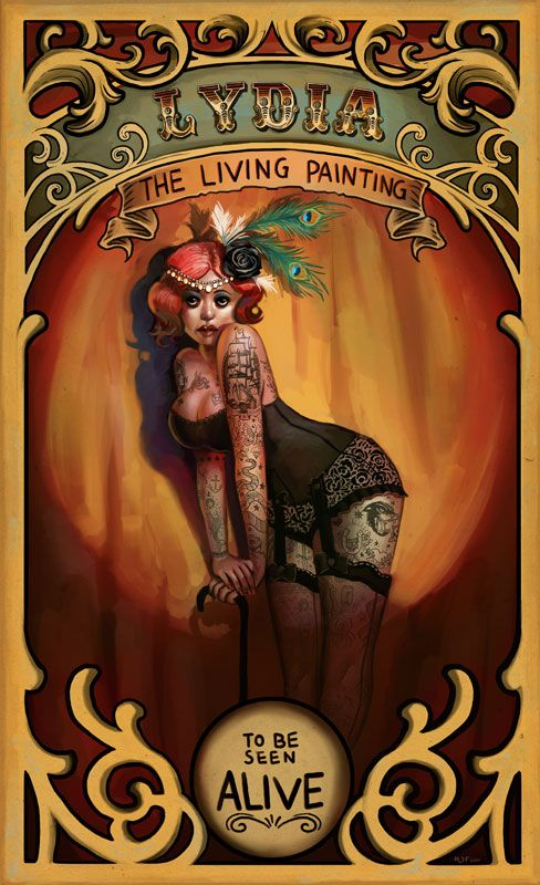 Tattooed Lady Poster
