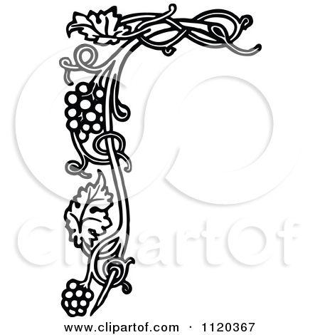 Imagesclipartof Small 1120367 Retro Grape VinesVintage