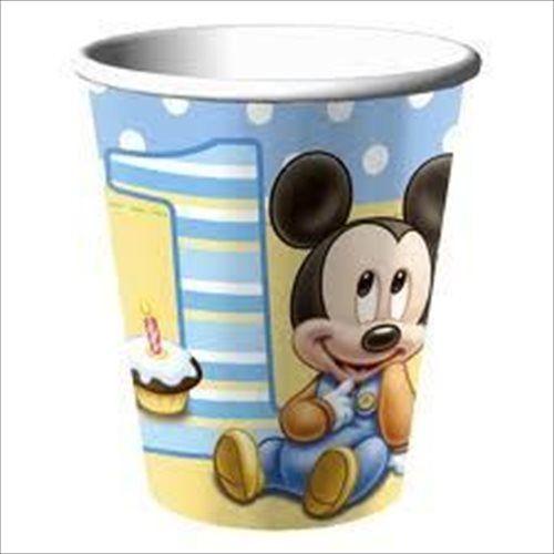 Paper Cups Mickey 1st Birthdays Mickey First Birthday Mickey Mouse 1st Birthday