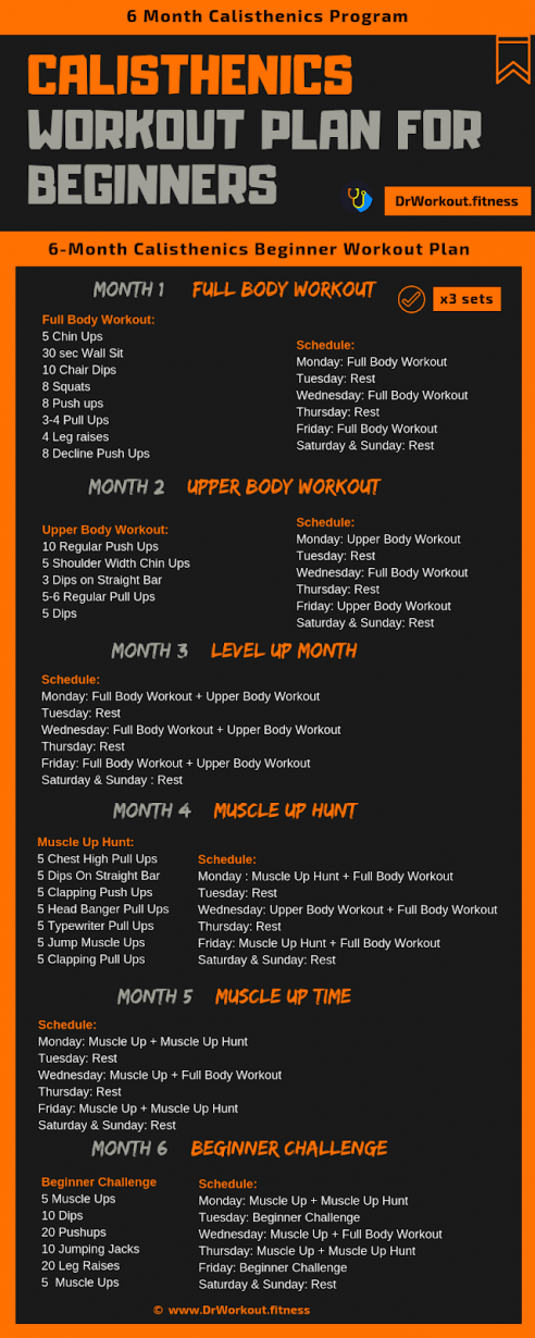 Calisthenics Workout Plan For Beginners Dietworkout Calisthenics Workout Plan Calisthenics Workout Workout Plan For Beginners
