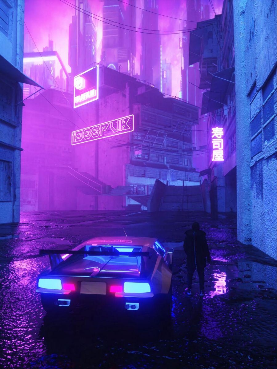 Japan Vinyl In 2020 Neon Aesthetic Neon Noir Purple Aesthetic