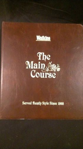 Watkins The Main Course Cookbook Three Ring 1980 Great Condition Yummy Recipes. Love these old recipes. Can't resist vintage!