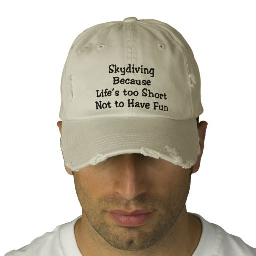 Skydiving Because Personalized Adjustable Hat Baseball Cap