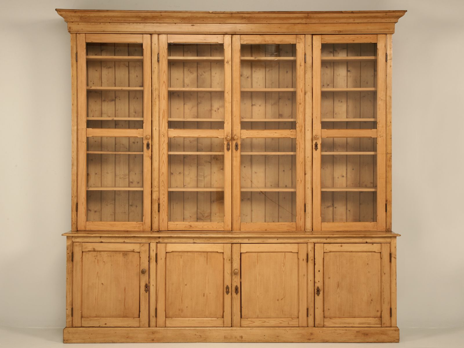 Antique Pine China Cabinet By British Traditions Fantastic Piece