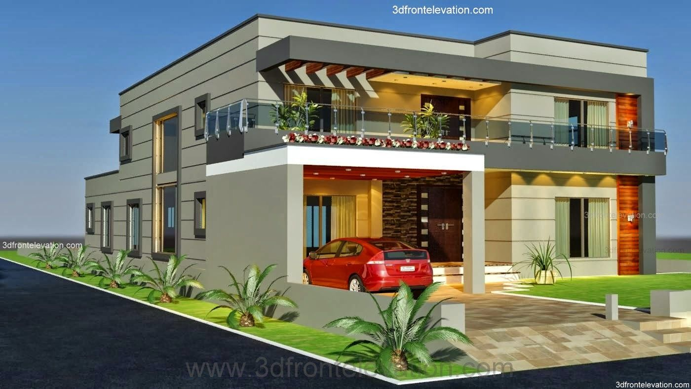 Front Elevation Of 1 Kanal Houses : D front elevation kanal old style house convert in