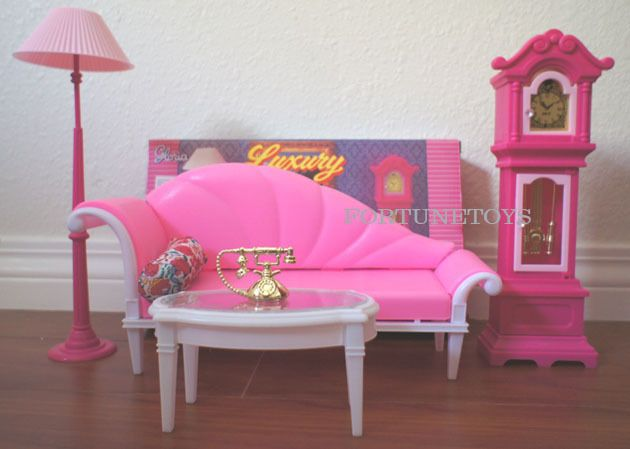 2315 NEW GLORIA DOLL HOUSE FURNITURE Pretty Vanity With Coat Stand Playset