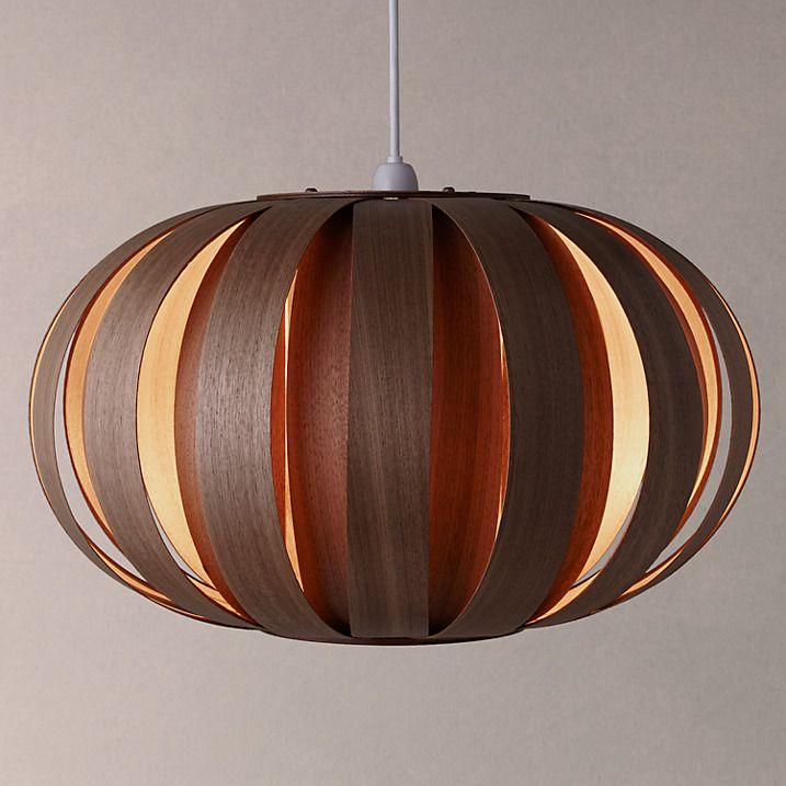Buy tom raffield urchin pendant ceiling light 53cm walnut online at johnlewis com