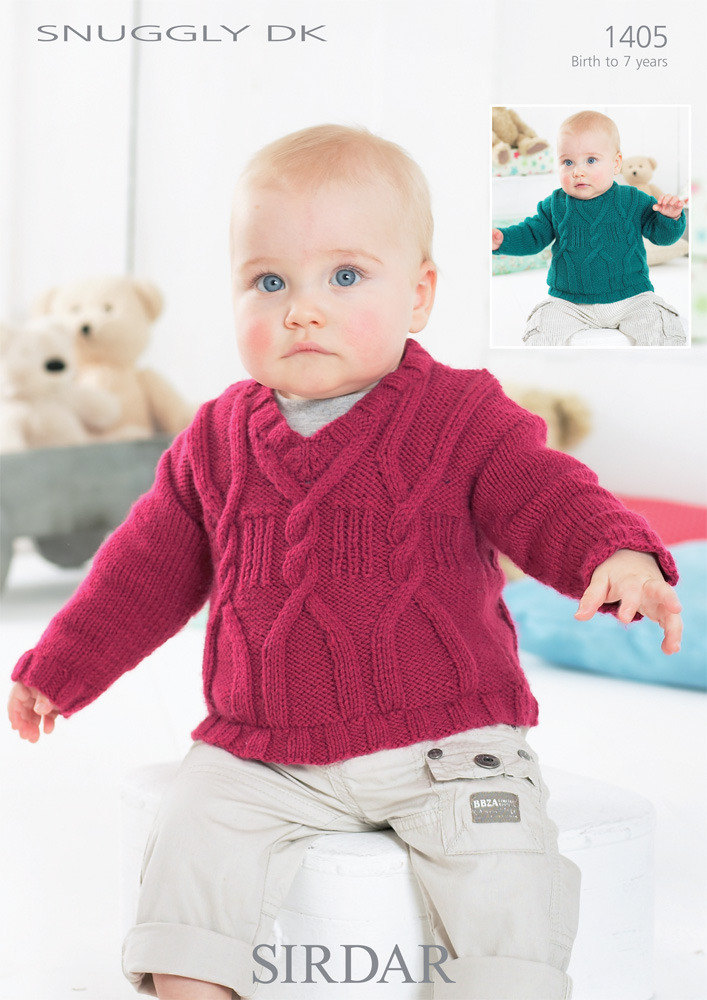 Photo of Baby Boy's Sweaters in Sirdar Snuggly DK – 1405 – Downloadable PDF