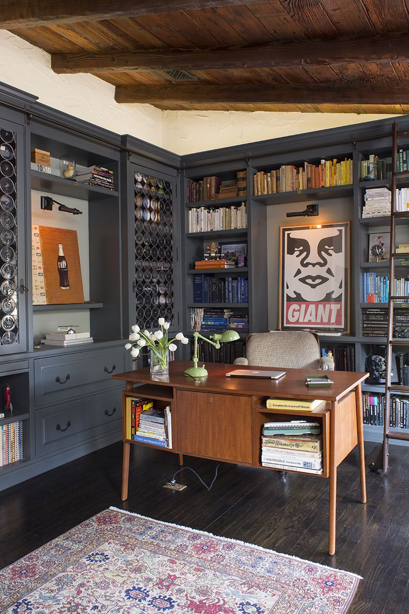 Eclectic Office And Study In Los Angeles CA By Deirdre Doherty Interiors Inc