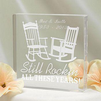 Still Rockin Personalized Acrylic Wedding Anniversary Cake Topper