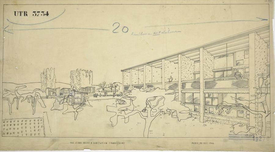 Fondation Le Corbusier - Projets - Unités d\u0027habitation transitoires