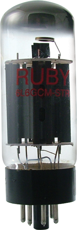 6L6GC-M-STR - Ruby Tubes  Octal power tube (Max Plate Watts = 30W)…