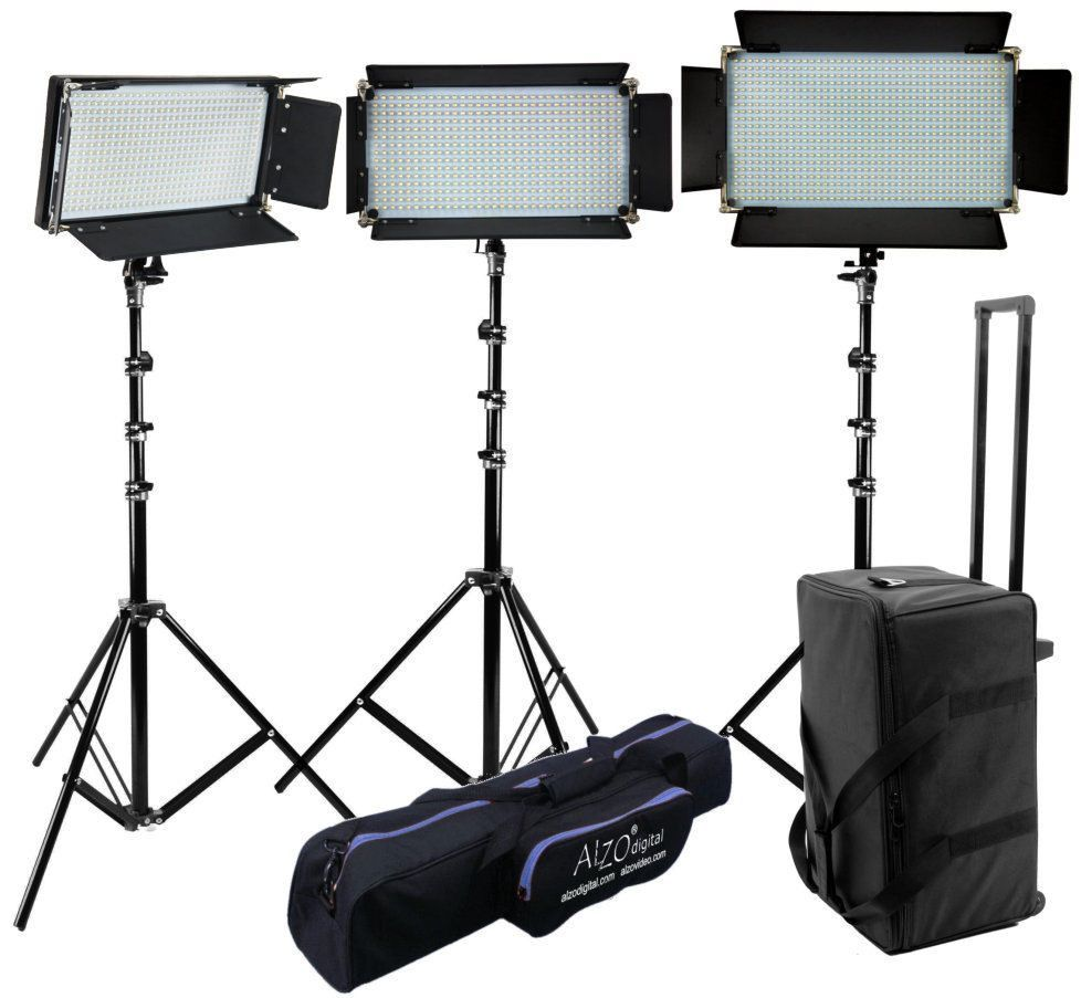ALZO LED Panel Light Kit 830 is great for accurate color rendering and covering an HD format scene;  sc 1 st  Pinterest & ALZO 16x9 Bi-Color LED Panel Light 830 3-Light Kit | Products ...