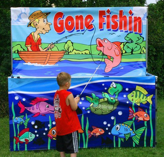 gone fishing carnival game fish party pinterest