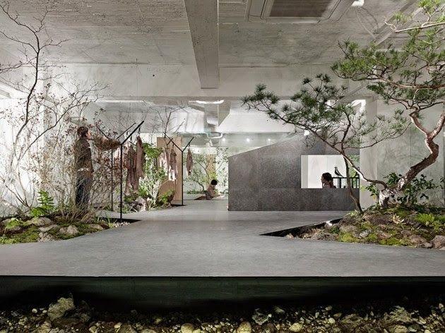 Garden Embedded Interiors Interior Garden Showroom Design Architecture