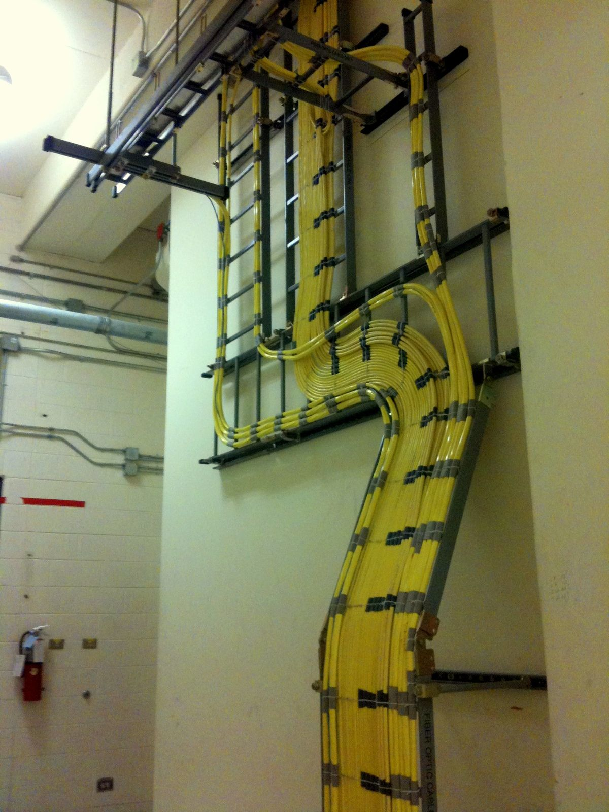 Telecommunication Room Design: Cable Routing Inside Of A CO Branch #Telecom