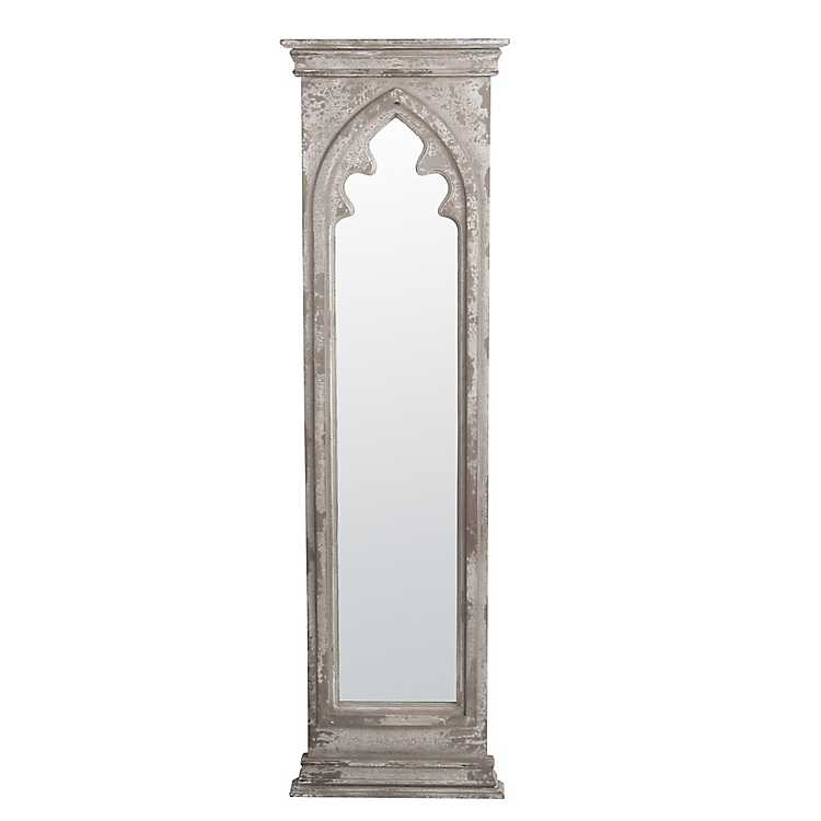 Distressed Ivory Cameron Wood Panel Mirror With Images Grey Wall Mirrors Wood Wall Mirror Framed Mirror Wall