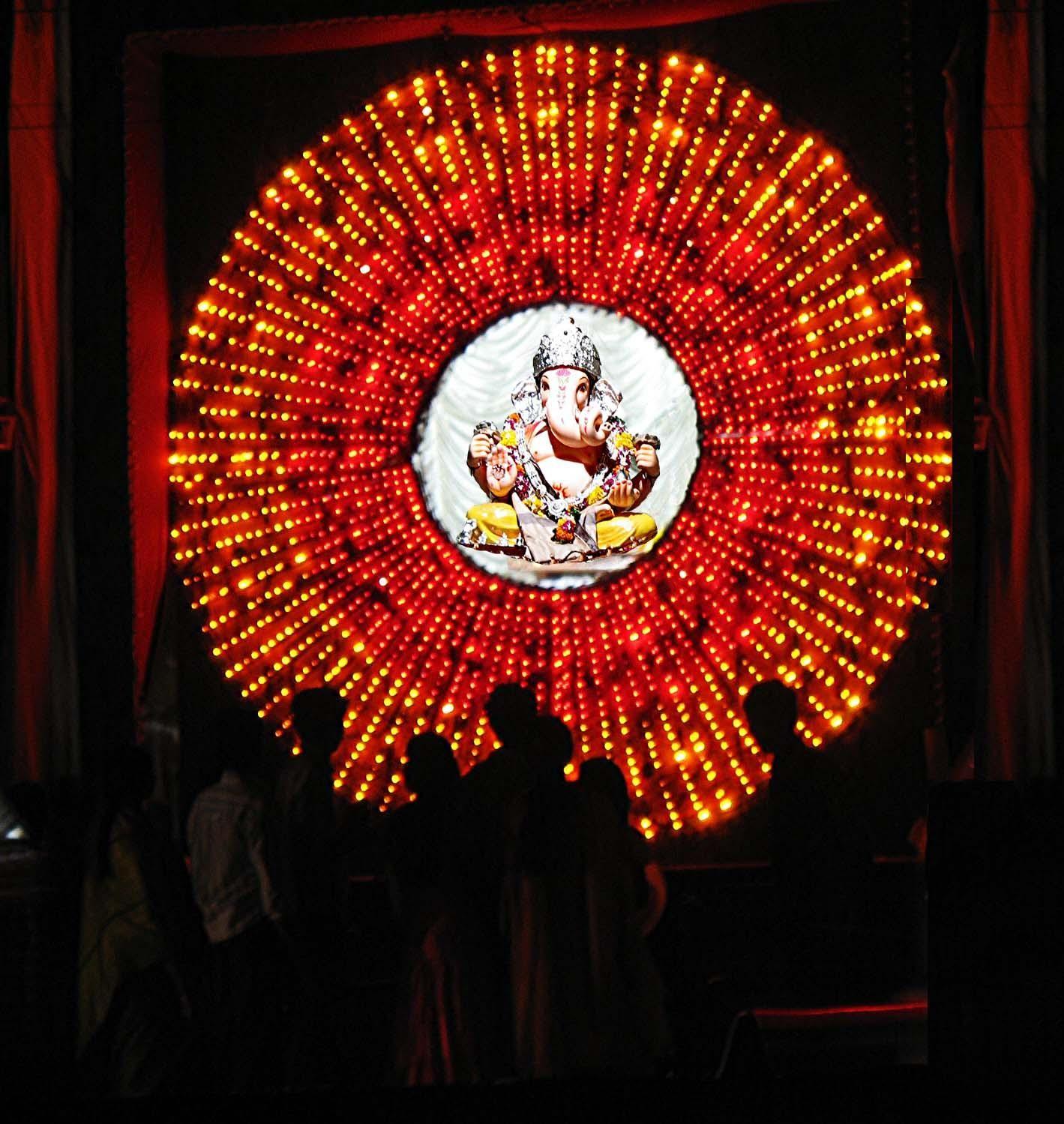 Ganesh Chaturthi Pooja Room Decoration Ideas Rangoli Ganesh