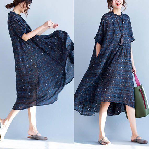 Robe chemise en lin femme
