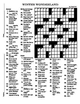 This is a 15 x 15 christmas themed crossword puzzle suitable for this is a 15 x 15 christmas themed crossword puzzle suitable for 6th 12th malvernweather Images