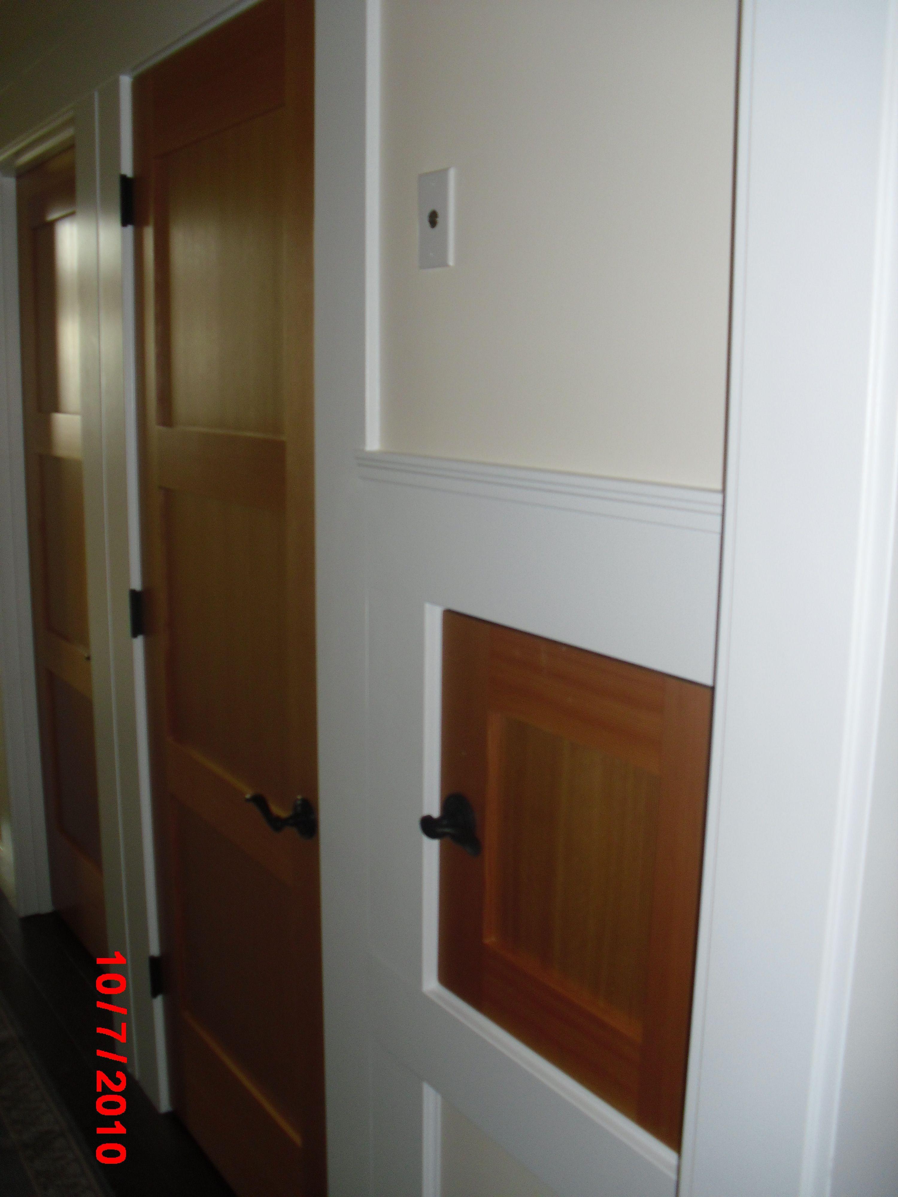 Residential dumbwaiter door looks just like any other door & Residential dumbwaiter door looks just like any other door ...