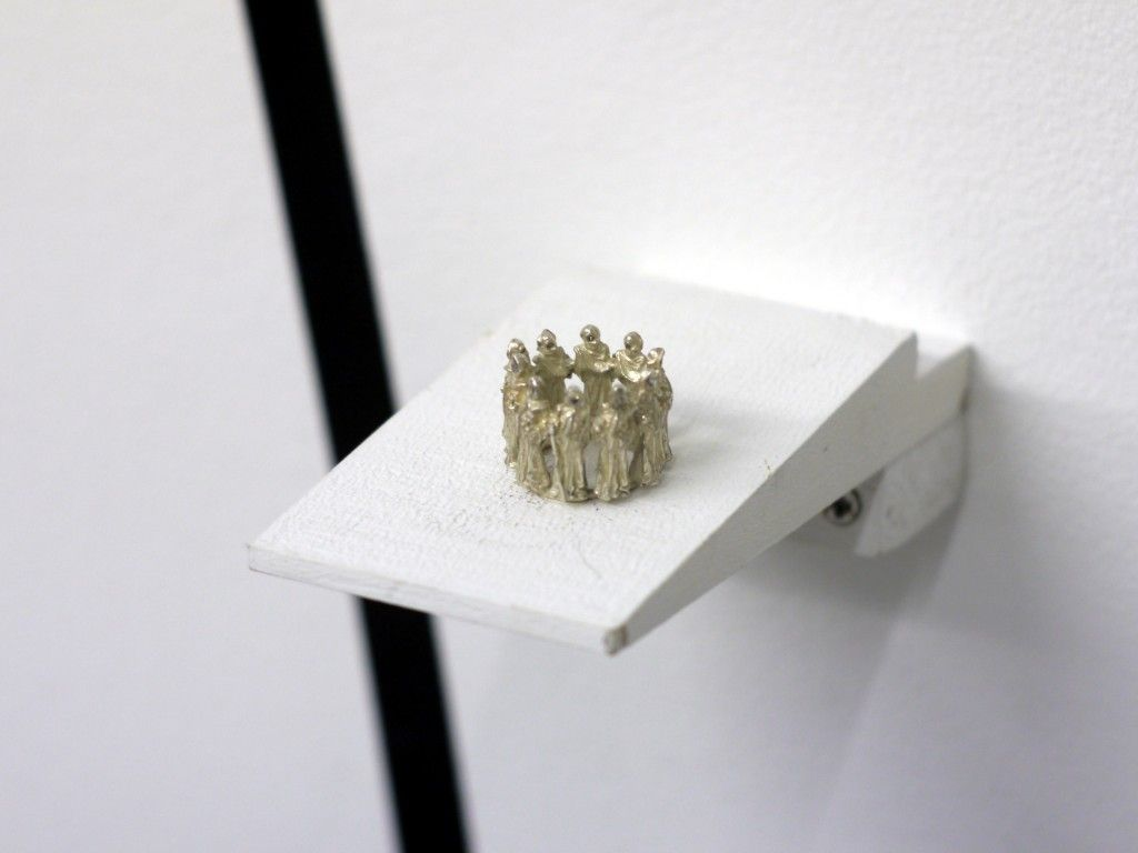 "Jo Garner's jewellery exhibition, ""Bring Back The Dead"" in the Whitespace Gallery in Edinburgh 2013"