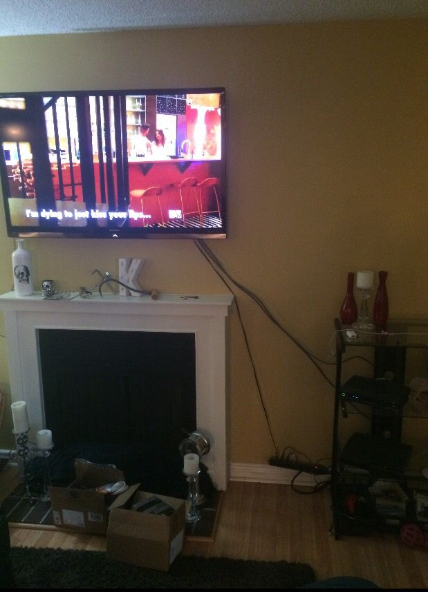 Those Awful Wires Showing Hiding Tv Cords On Wall Hide
