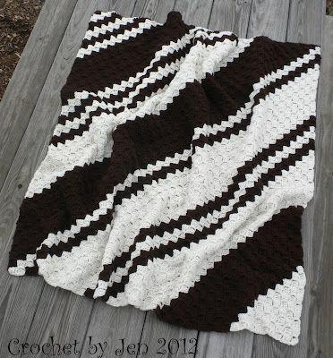 Coffee/Aran Corner To Corner Throw/Lapghan   C2C blanket Patterns ...
