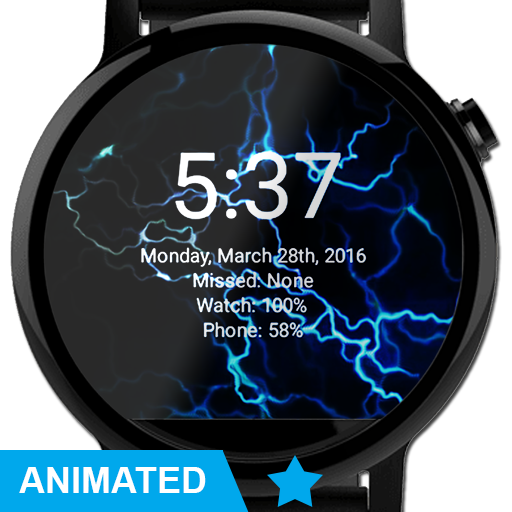 Electric Watch Face Wallpaper