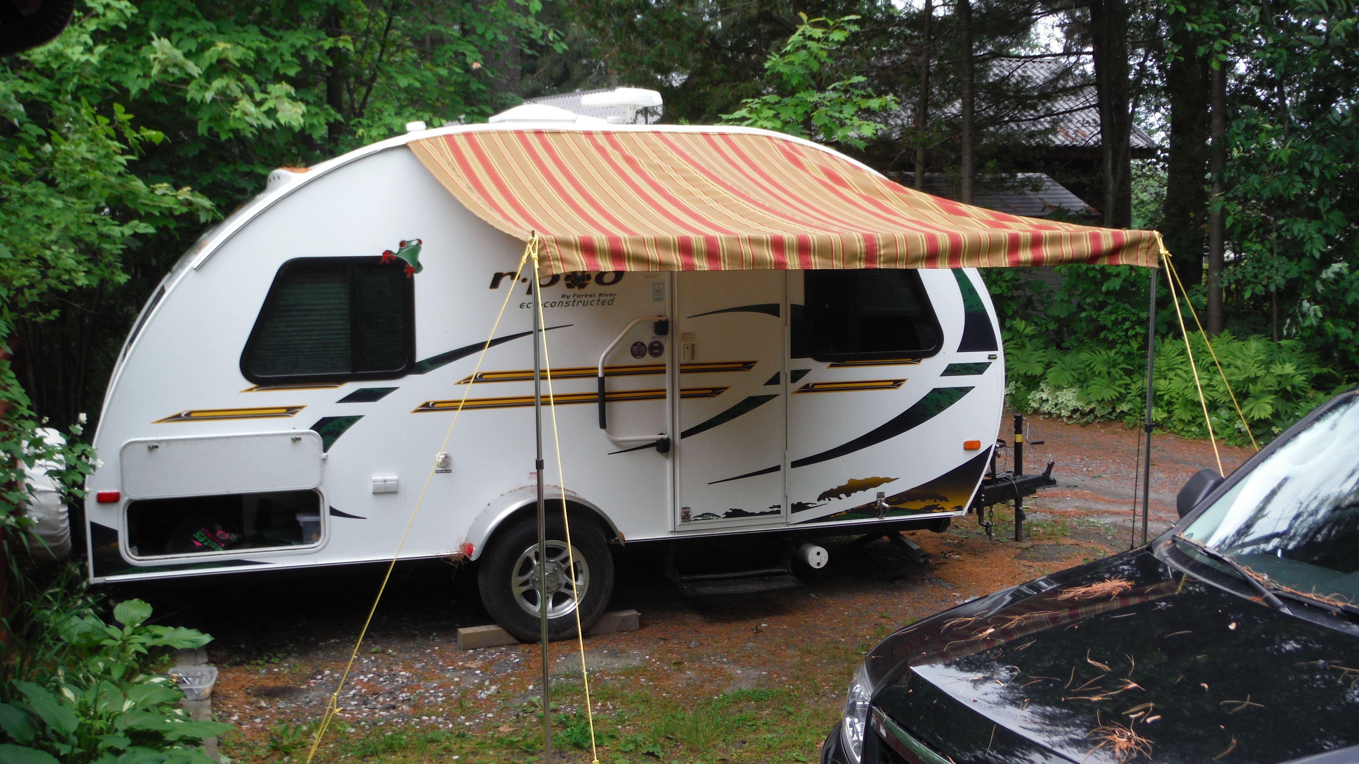 Diy Awning R Pod Ideas Camper Rv Campers Diy Awning