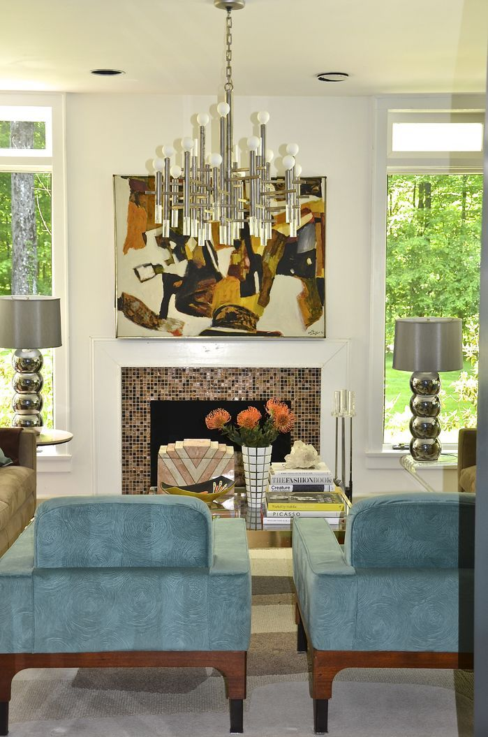 artistic modern style living room chandelier design ideas white unique | What do you think of this unique Contemporary Living Room ...
