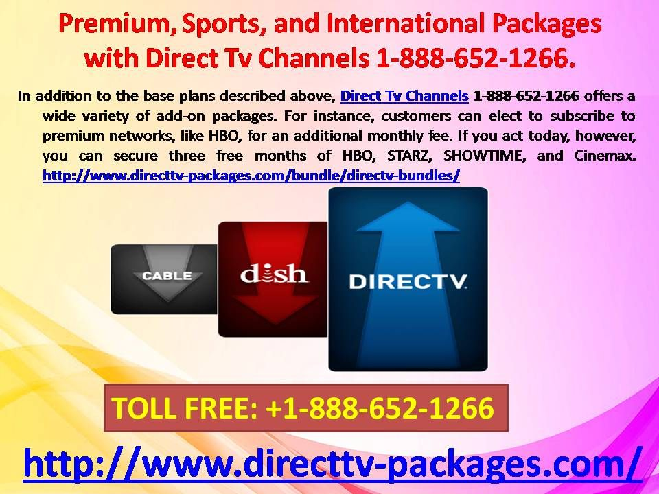 Premium Sports And International Packages With Direct Tv Channels 1 888 652 1266 Directtvpackages Direct Direct Tv Packages Direct Tv Channels Directions