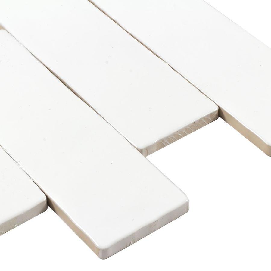 Elida Ceramica Hand Crafted White 3 In X 8 In Ceramic Brick Subway Tile Common 3 In X 8 In Ac Brick Ceramic Tile Ceramic Tile Samples Tile Samples