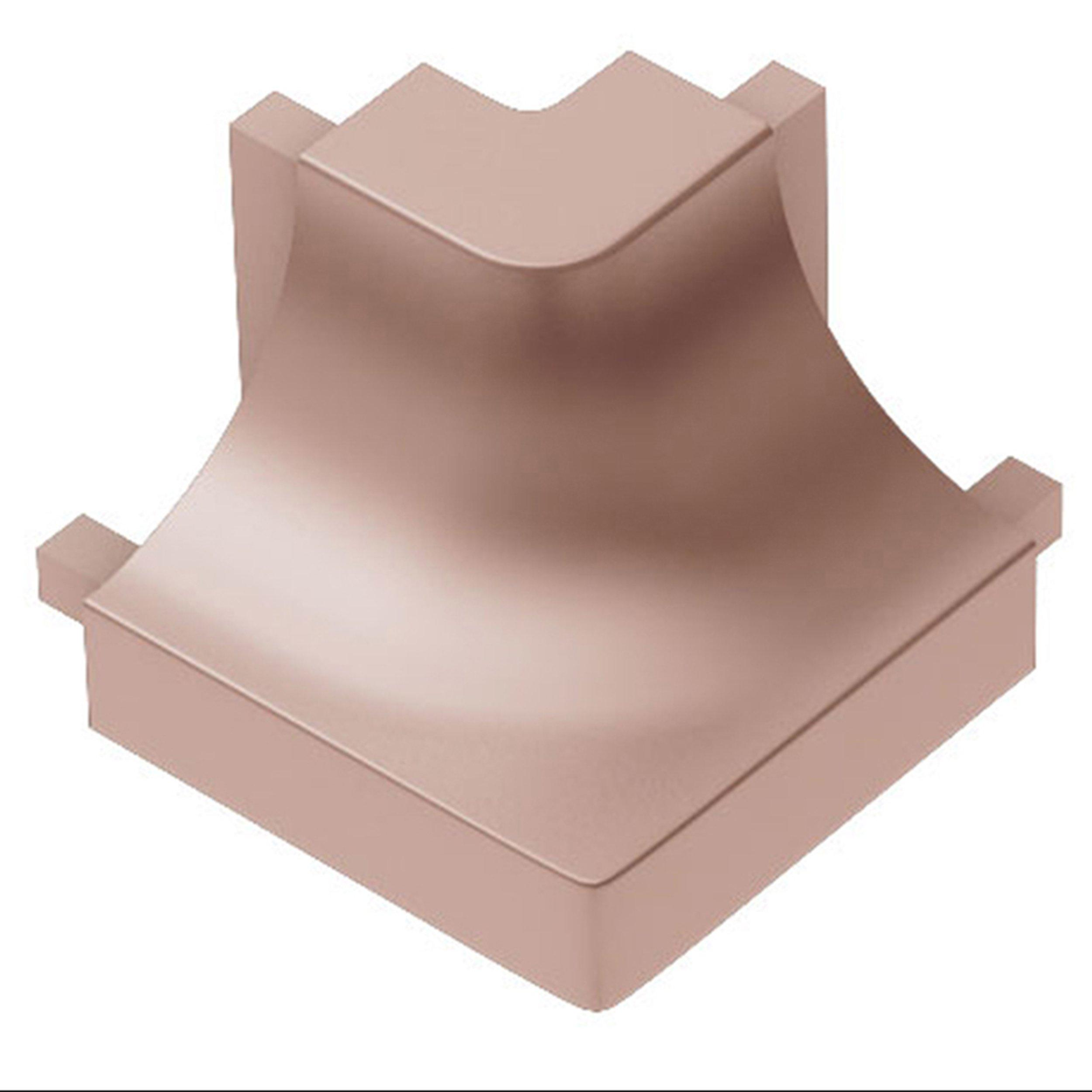 Schluter Dilex Ahk Out Corner 90 Degrees Aluminum Satin Copper Tuscan Colors Cove Base 90 Degrees