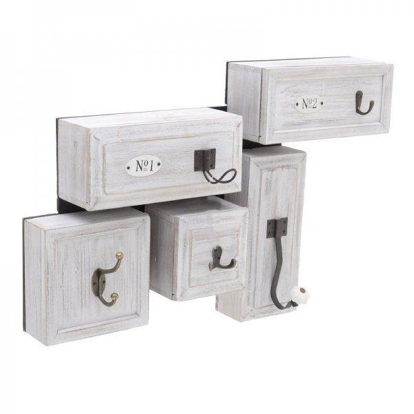 Дървена закачалка за дрехи с място за съхранение Exclusive Home Enchanting Coat Rack With Storage Space