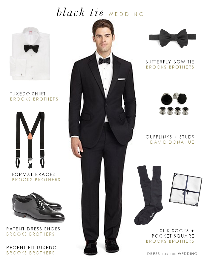 Men S Attire For A Black Tie Wedding
