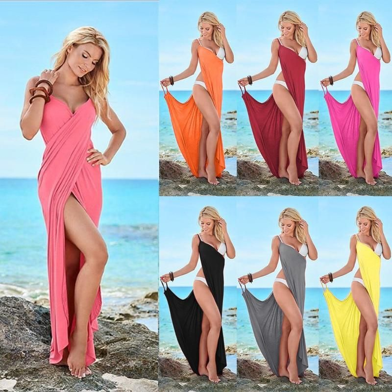 Cover Up Women High-grade Chiffon Sunscreen Beach Bikini Wrap Dress Scarf Towel