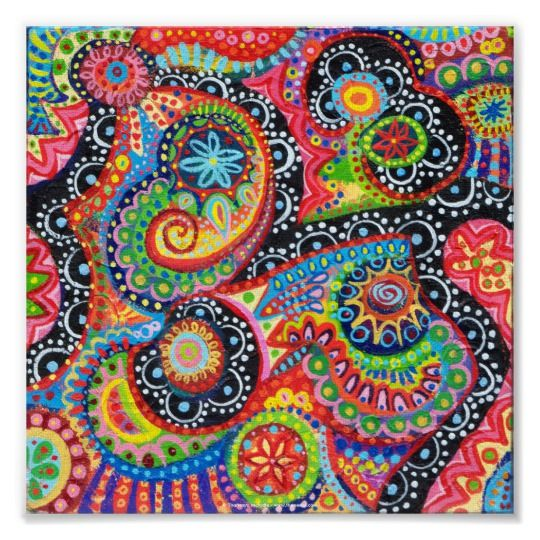 Colorful abstract poster or fine art print also in projects to try rh pinterest