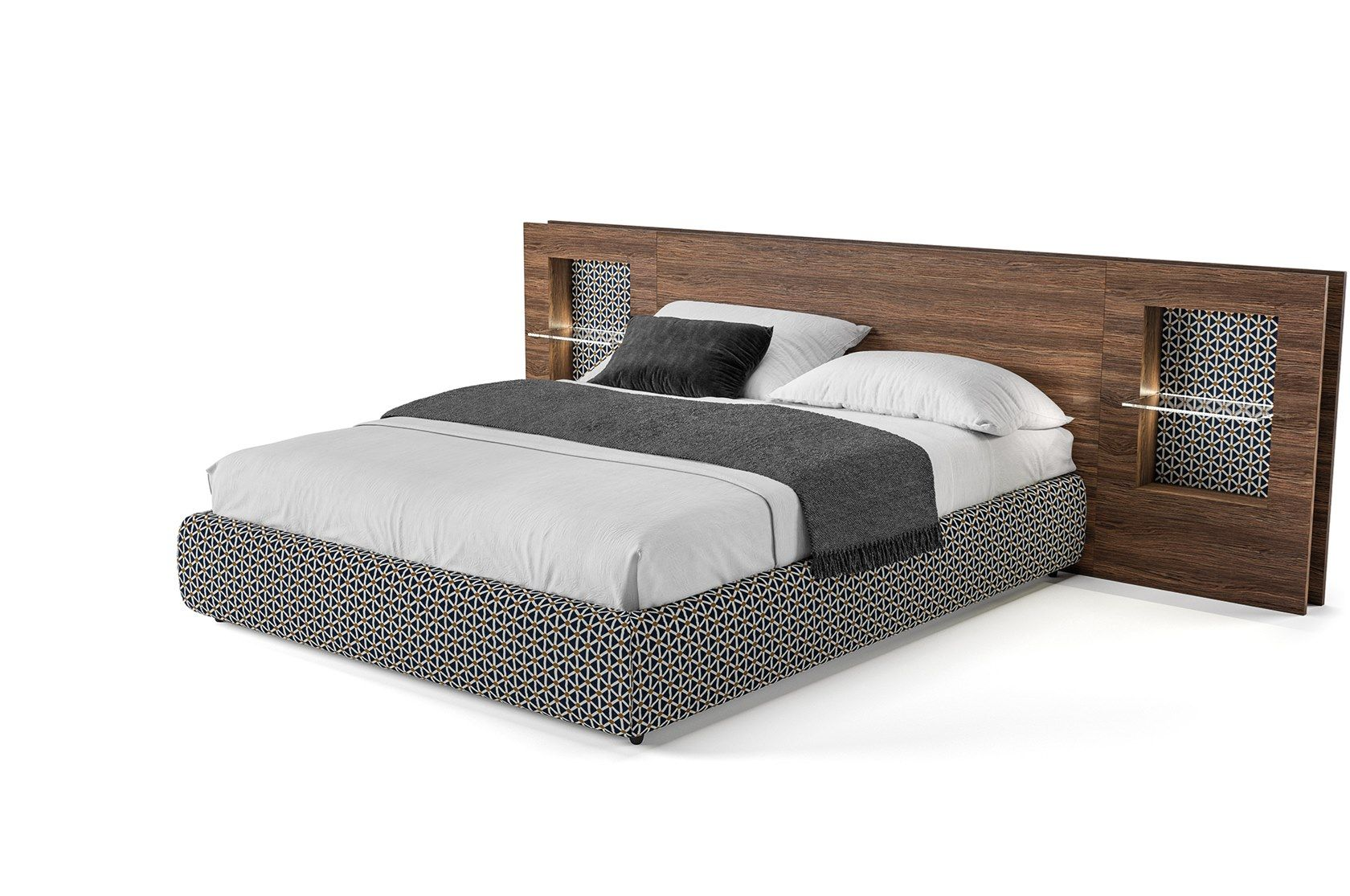 Double Bed With Integrated Nightstands Plan By Tumidei Nightstand Plans Headboards For Beds Bed