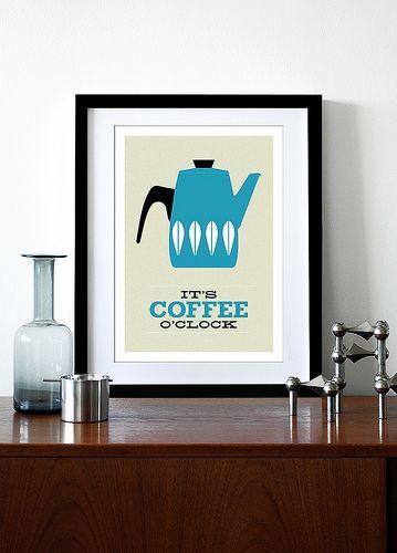 It's Coffee O'clock - Blue