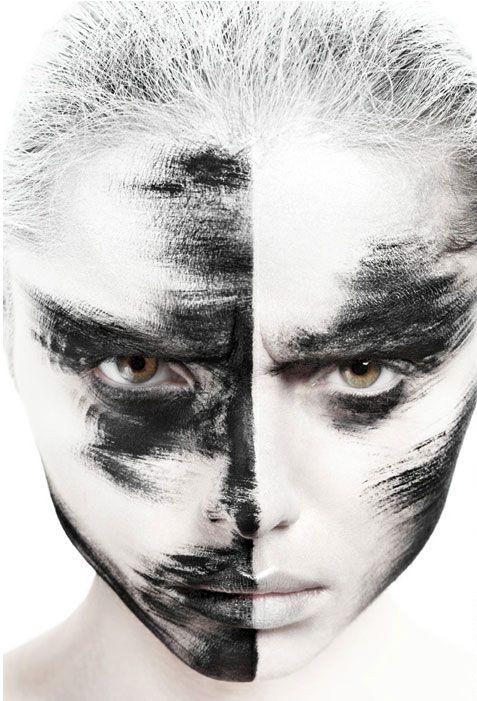 Black White Creative Makeup 1 Black And White Makeup Makeup Photography Creative Makeup