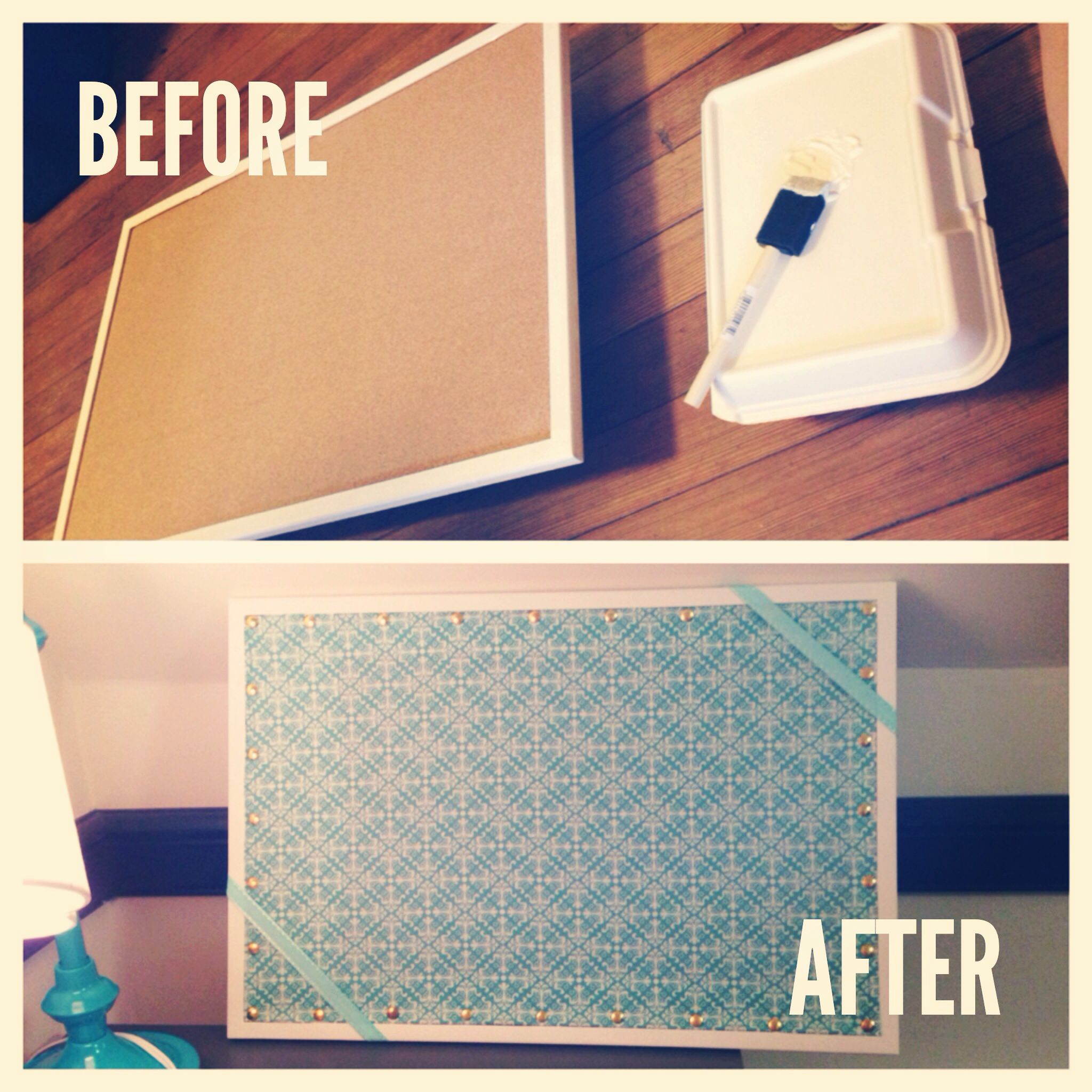 diy dorm room bulletin board before and after | crafts | pinterest